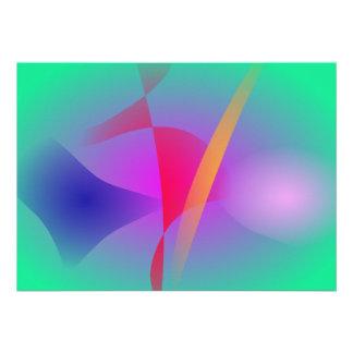 Art abstrait coloré vert flou faire-part personnalisé