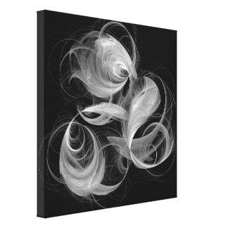 Art abstrait d'aérolithe noir et blanc toiles