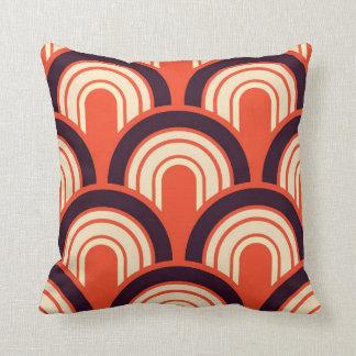Art abstrait d'années '50 d'art déco rétro coussins carrés