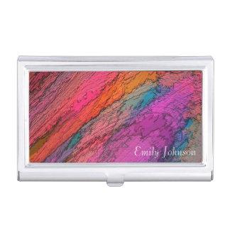 Art abstrait dans des couleurs profondes porte-cartes de visite