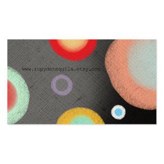 Art abstrait d'aquarelle de cercles d'Ölkreide Carte De Visite Standard