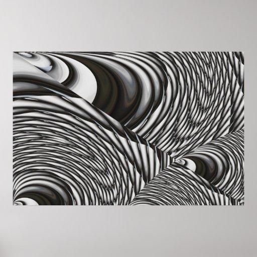 art abstrait d 39 art moderne d 39 affiche contemporaine zazzle. Black Bedroom Furniture Sets. Home Design Ideas