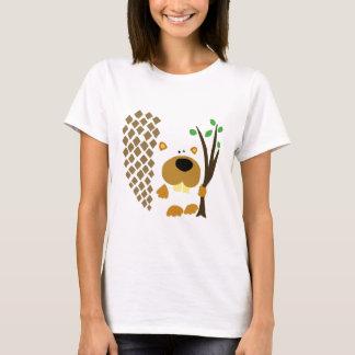 Art abstrait de castor drôle t-shirt