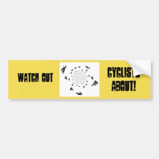 Art abstrait de course de bicyclette autocollant de voiture