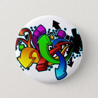 Art abstrait de graffiti pin's
