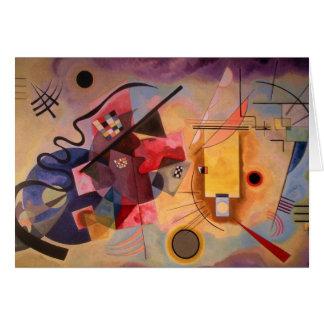 Art abstrait de Kandinsky Carte De Vœux