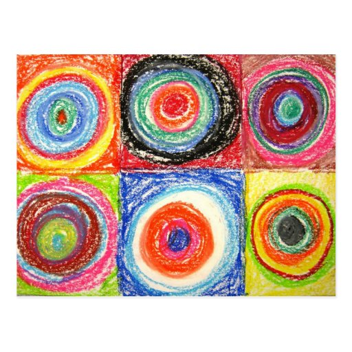 Art abstrait de Kandinsky Carte Postale
