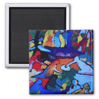 Art abstrait de Kandinsky Magnet Carré