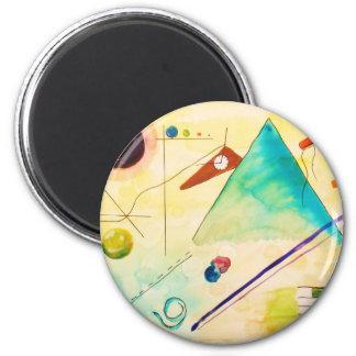 Art abstrait de Kandinsky Magnet Rond 8 Cm