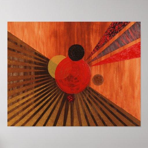 Art abstrait de Kandinsky Affiche