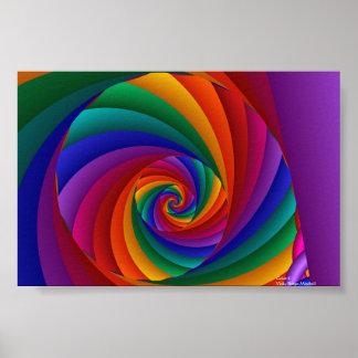 Art abstrait de la couleur 6 affiche