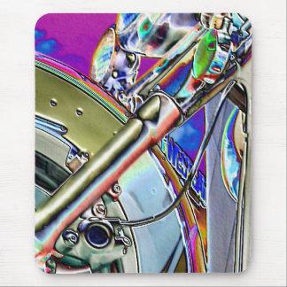 Art abstrait de la moto   tapis de souris