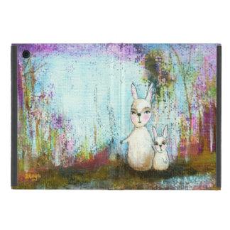 Art abstrait de lapins d'école, de maman et de coque iPad mini