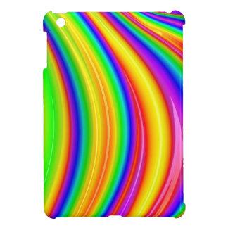 Art abstrait de l'arc-en-ciel 3D Coque Pour iPad Mini