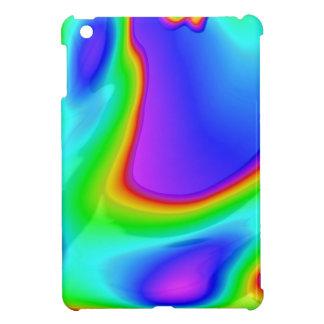 Art abstrait de l'arc-en-ciel 3D Coques Pour iPad Mini