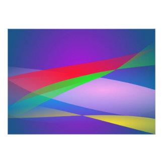 Art abstrait de minimalisme de vert bleu invitations