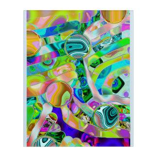 Art abstrait de mur de gisements de pâte à modeler
