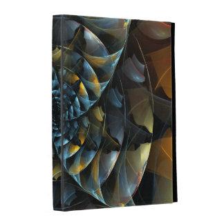 Art abstrait de soleil étui iPad folio