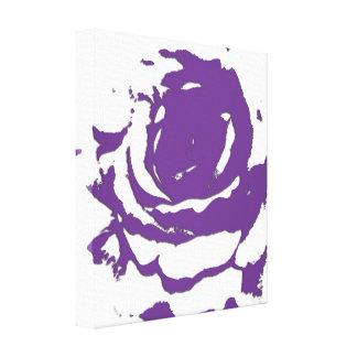 Art abstrait de toile de rose de pourpre toiles