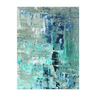 """Art abstrait de turquoise """"généreuse"""" toiles"""