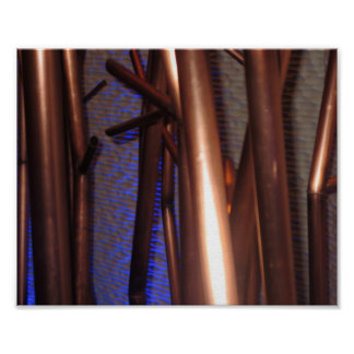 Art abstrait de tuyaux de cuivre de décorations IN Posters