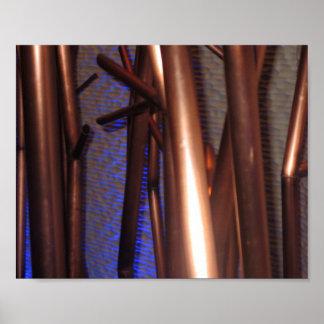 Art abstrait de tuyaux de cuivre de décorations poster