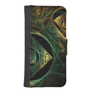 Art abstrait de vibrations magiques coques avec portefeuille pour iPhone 5