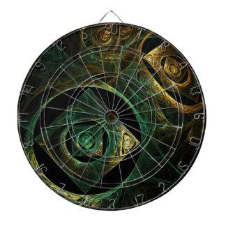 Art abstrait de vibrations magiques jeux de fléchettes