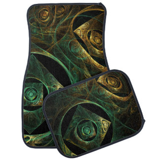 Art abstrait de vibrations magiques tapis de sol