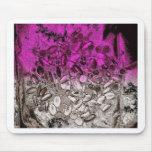 Art abstrait des vitamines avec la teinte pourpre tapis de souris