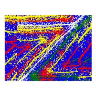 art abstrait du zzz ZAZZLING : Filets de bleu Carte Postale