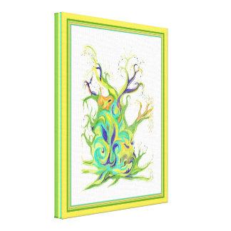 Art abstrait en hausse d'arbre de sève toiles
