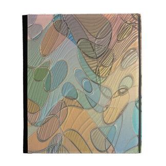 Art abstrait en verre en pastel étuis iPad folio