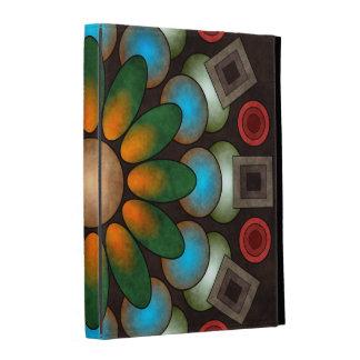 Art abstrait floral mignon de vecteur coque iPad