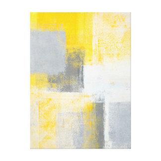 """Art abstrait gris et jaune de """"glacière"""" toiles"""