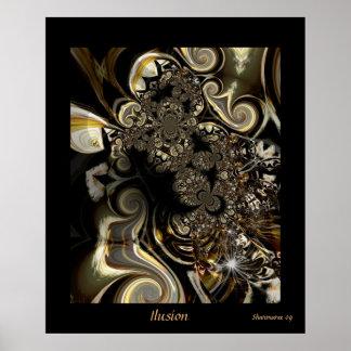 Art abstrait Ilusion de Digitals d'affiche
