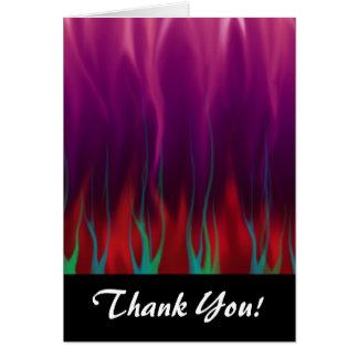 Art abstrait - le feu - flammes cartes de vœux