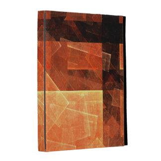 Art abstrait léger de fenêtre coque folio iPad