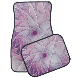 Art abstrait moderne de fractale de belle fleur tapis de voiture