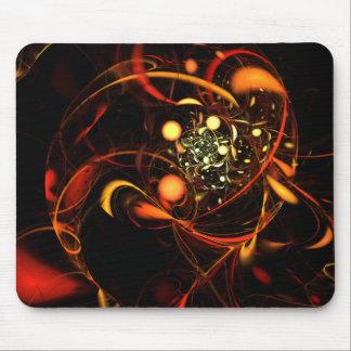 Art abstrait Mousepad de battement de coeur Tapis De Souris