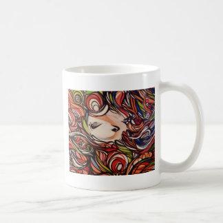 Art abstrait mug blanc