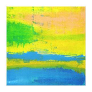 """""""Art abstrait nautique bleu de jaune d'un JOUR Toiles"""