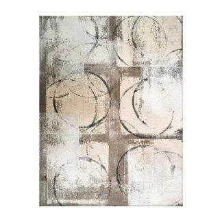 """Art abstrait neutre """"au sol"""" toiles"""