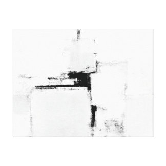 """Art abstrait noir et blanc de """"bordure"""" toiles"""
