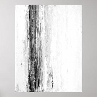 """Art abstrait noir et blanc de """"glacier"""" posters"""