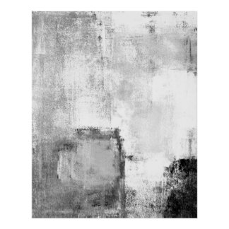 """Art abstrait noir et blanc de """"leçons"""" affiche"""
