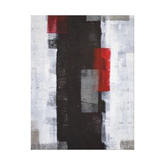 """Art abstrait noir et blanc """"de voyage de toiles"""