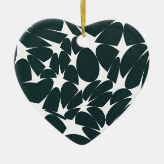 Art abstrait ornement cœur en céramique