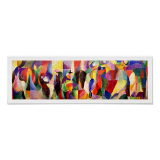 Art abstrait par Sonia Delaunay - BAL Bullier de t Affiches