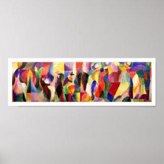 Art abstrait par Sonia Delaunay - BAL Bullier de t Poster